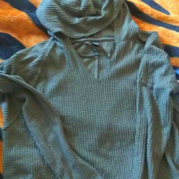 Green summer sweater